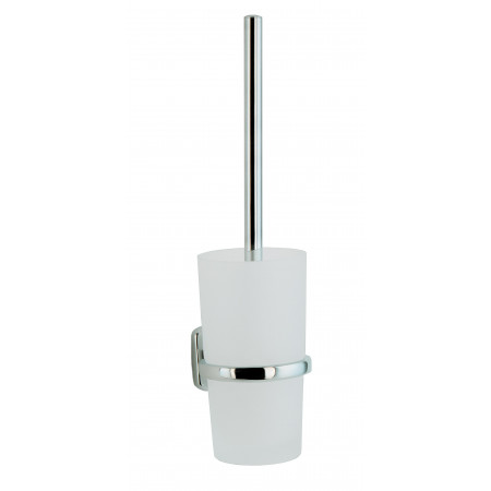 Smedbo Cabin Toilet Brush Wallmounted with Frosted Glass Container